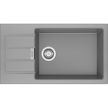 Franke Sirius SUD 611-78 XL Zlewozmywak granitowy 78x43,5 cm wbudowywany, kamienny szary 114.0496.098