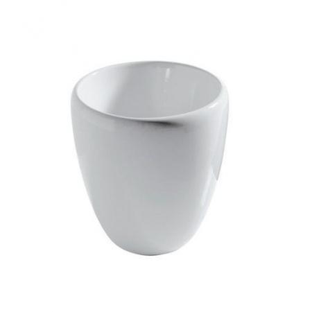 Galassia Ergo Umywalka okrągła ø40 cm, stawiana na blacie, z odpływem ceramicznym, bez otworu, biała 7104
