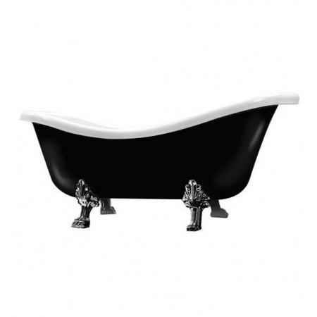 Galassia Ethos Wanna wolnostojąca 170x80cm, biała/czarna 8497CR