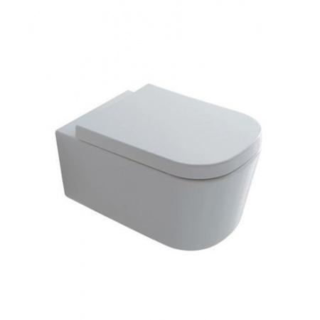 Galassia Meg11 Muszla klozetowa miska WC podwieszana 55x35 cm, lejowa, biała matowa 5411MT