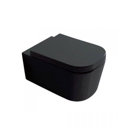 Galassia Meg11 Muszla klozetowa miska WC podwieszana 55x35 cm, lejowa, czarna 5411NE