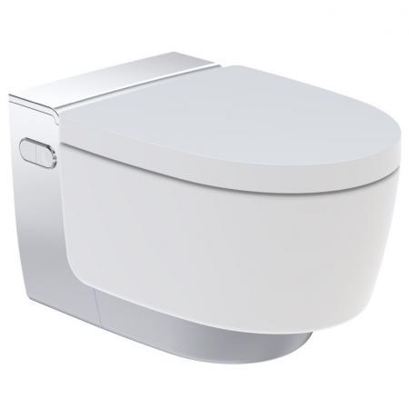 Geberit AquaClean Mera Comfort Toaleta WC myjąca podwieszana 59x39,5 cm z deską sedesową wolnoopadającą, chrom/biała 146.212.21.1