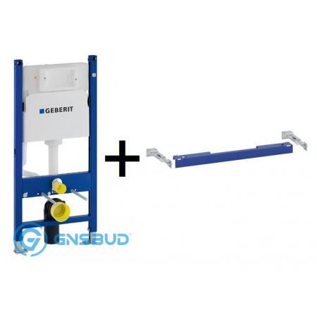 Geberit Duofix Basic Stelaż podtynkowy do WC H112 UP100 Delta z zestawem wsporników, 111.153.00.1+111.813.00.1