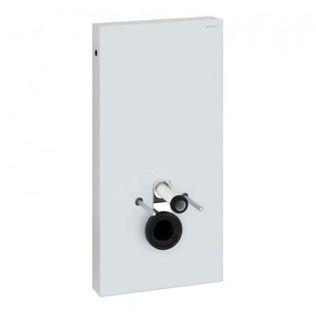 Geberit Monolith Moduł sanitarny do WC wiszącego H101, szkło białe/aluminium 131.022.SI.5