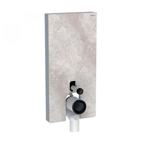 Geberit Monolith Plus Moduł sanitarny do WC stojącej kamionka efekt betonu/aluminium 131.202.JV.5