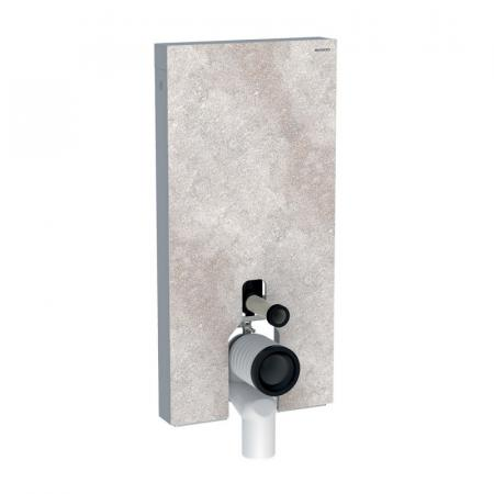 Geberit Monolith Plus Moduł sanitarny do WC stojącej kamionka efekt betonu/aluminium 131.203.JV.5