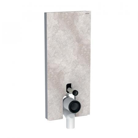 Geberit Monolith Plus Moduł sanitarny do WC stojącej kamionka efekt betonu/aluminium 131.233.JV.5