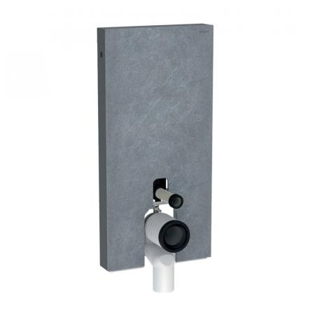 Geberit Monolith Plus Moduł sanitarny do WC stojącej kamionka efekt łupka/aluminium czarny chrom 131.202.00.5