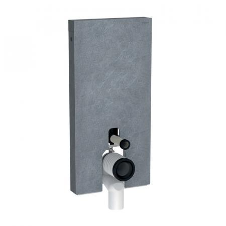 Geberit Monolith Plus Moduł sanitarny do WC stojącej kamionka efekt łupka/aluminium czarny chrom 131.203.00.5