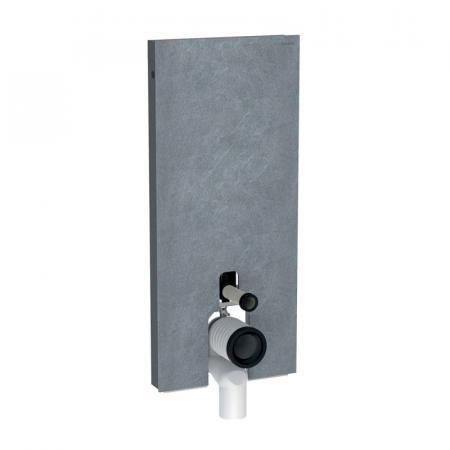 Geberit Monolith Plus Moduł sanitarny do WC stojącej kamionka efekt łupka/aluminium czarny chrom 131.233.00.5