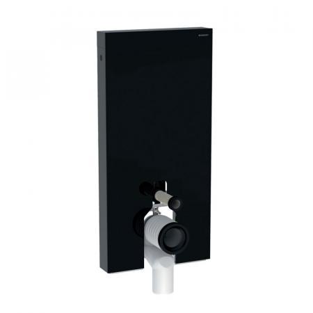 Geberit Monolith Plus Moduł sanitarny do WC stojącej szkło czarne/aluminium czarny chrom 131.202.SJ.6