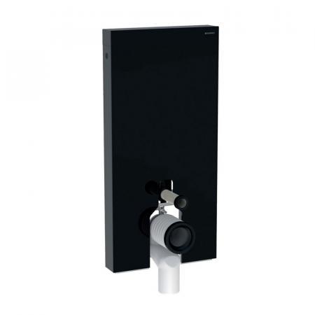 Geberit Monolith Plus Moduł sanitarny do WC stojącej szkło czarne/aluminium czarny chrom 131.203.SJ.6