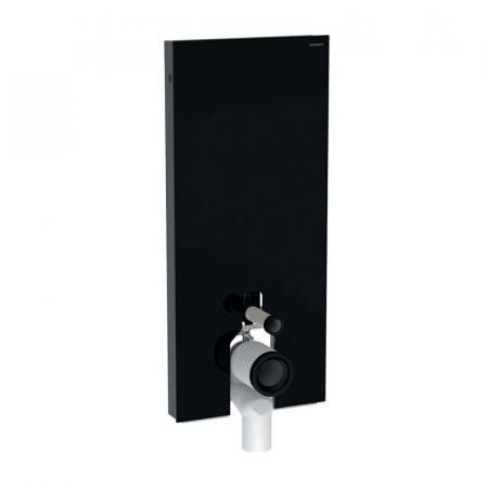 Geberit Monolith Plus Moduł sanitarny do WC stojącej szkło czarne/aluminium czarny chrom 131.233.SJ.6