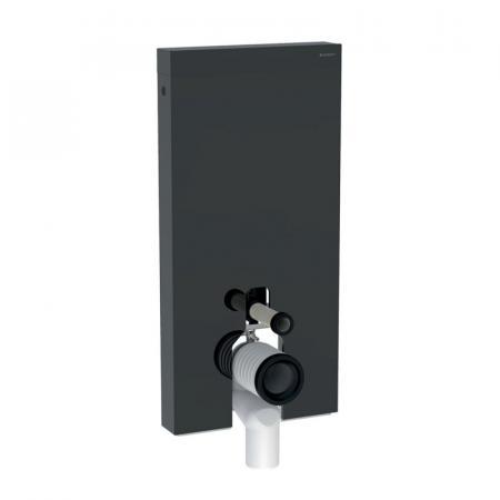 Geberit Monolith Plus Moduł sanitarny do WC stojącej szkło lava/aluminium czarny chrom 131.202.JK.5
