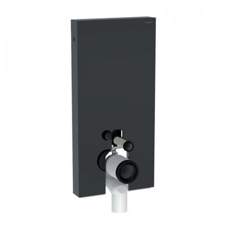 Geberit Monolith Plus Moduł sanitarny do WC stojącej szkło lava/aluminium czarny chrom 131.203.JK.5