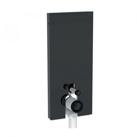 Geberit Monolith Plus Moduł sanitarny do WC stojącej szkło lava/aluminium czarny chrom 131.233.JK.5