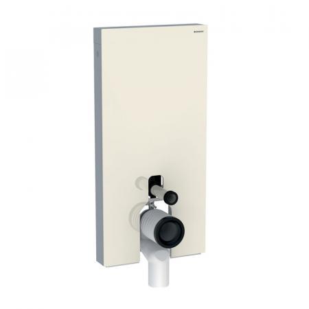 Geberit Monolith Plus Moduł sanitarny do WC stojącej szkło w kolorze szarym piaskowym/aluminium 131.202.JL.5