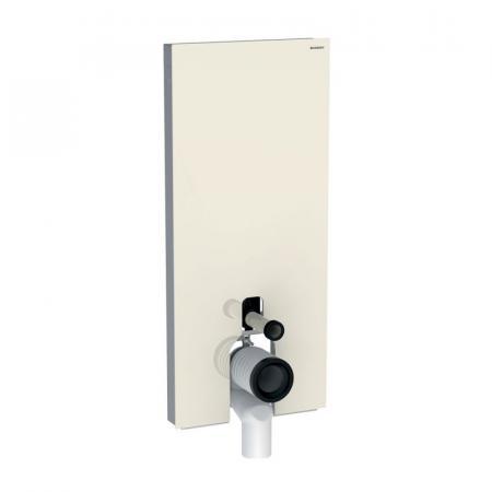 Geberit Monolith Plus Moduł sanitarny do WC stojącej szkło w kolorze szarym piaskowym/aluminium 131.233.JL.5