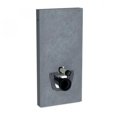 Geberit Monolith Plus Moduł sanitarny do WC wiszącej kamionka efekt łupka/aluminium czarny chrom 131.221.00.5