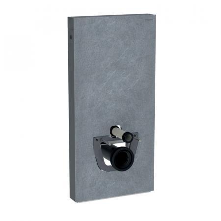 Geberit Monolith Plus Moduł sanitarny do WC wiszącej kamionka efekt łupka/aluminium czarny chrom 131.222.00.5