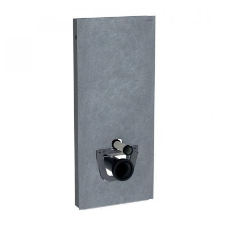 Geberit Monolith Plus Moduł sanitarny do WC wiszącej kamionka efekt łupka/aluminium czarny chrom 131.231.00.5