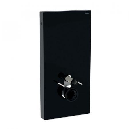 Geberit Monolith Plus Moduł sanitarny do WC wiszącej szkło czarne/aluminium czarny chrom 131.222.SJ.6