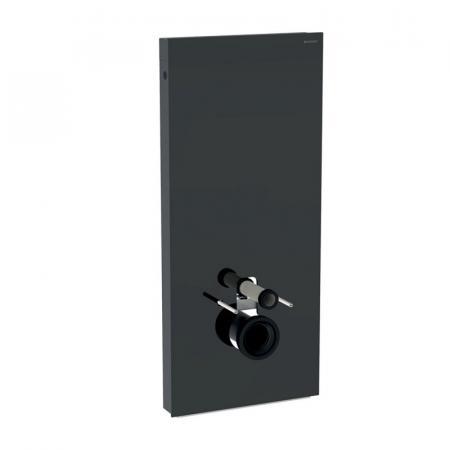 Geberit Monolith Plus Moduł sanitarny do WC wiszącej szkło lava/aluminium czarny chrom 131.231.JK.5