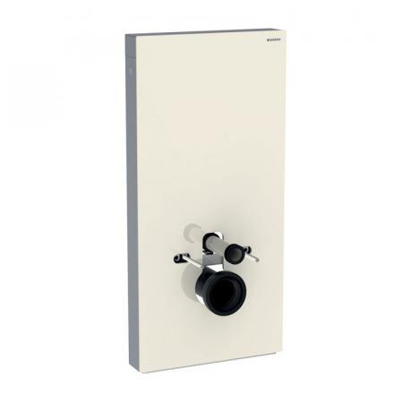 Geberit Monolith Plus Moduł sanitarny do WC wiszącej szkło w kolorze szarym piaskowym/aluminium 131.221.JL.5