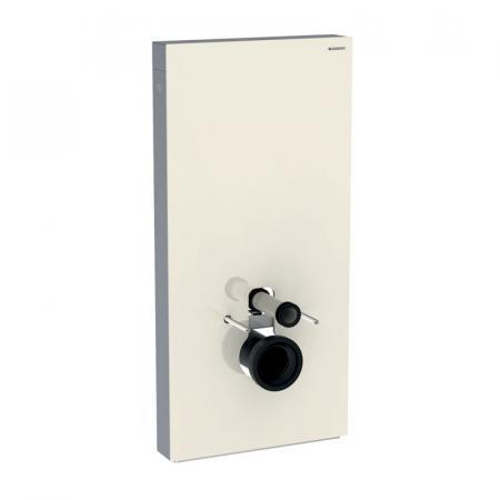 Geberit Monolith Plus Moduł sanitarny do WC wiszącej szkło w kolorze szarym piaskowym/aluminium 131.222.JL.5