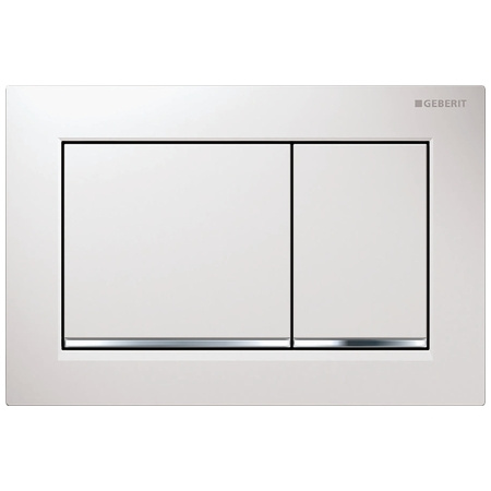 Geberit Omega30 Przycisk spłukujący do WC, biały/chrom błyszczący 115.080.KJ.1