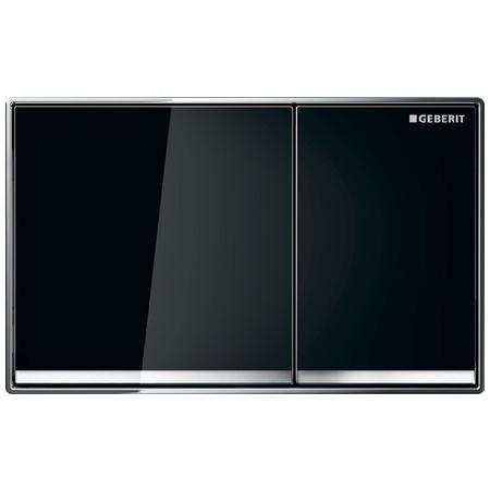 Geberit Omega60 Przycisk spłukujący do WC, szkło czarne/chrom błyszczący 115.081.SJ.1