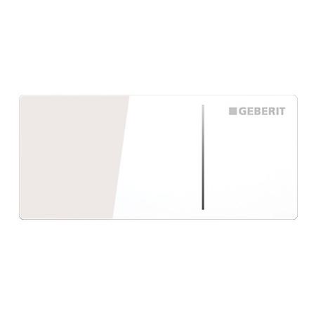 Geberit Omega70 Przycisk spłukujący do WC typ 70 zdalny meblowy, szkło białe 115.083.SI.1