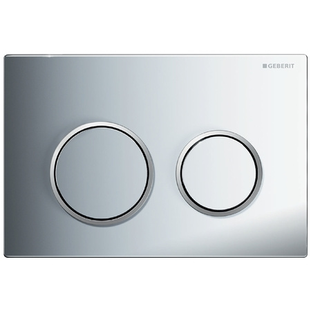 Geberit Omega20 Przycisk spłukujący do WC, chrom błyszczący/chrom matowy 115.085.KH.1
