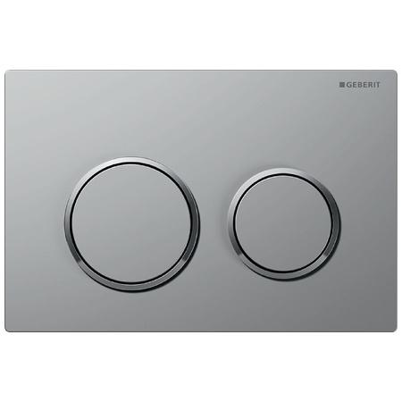 Geberit Omega20 Przycisk spłukujący do WC, chrom mat/chrom błyszczący 115.085.KN.1