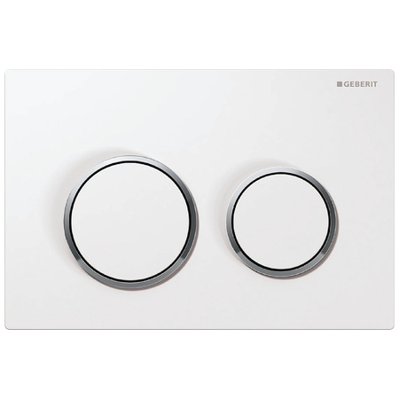 Geberit Omega20 Przycisk spłukujący do WC, biały/chrom błyszczący 115.085.KJ.1