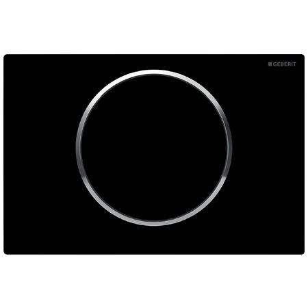 Geberit Sigma10 Przycisk spłukujący do WC UP320, czarny/chrom błyszczący 115.758.KM.5