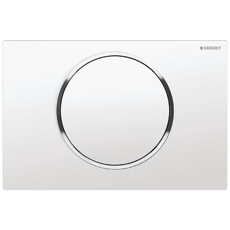 Geberit Sigma10 Przycisk spłukujący do WC UP320, biały/chrom błyszczący 115.758.KJ.5