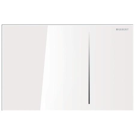 Geberit Sigma70 Przycisk spłukujący do WC, szkło białe 115.620.SI.1
