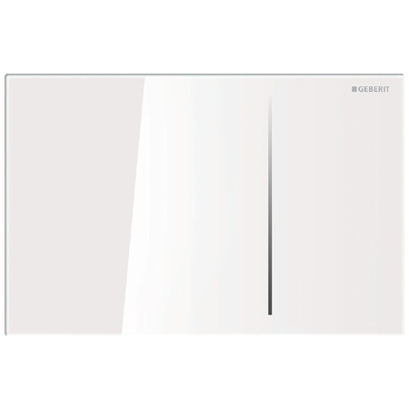 Geberit Sigma70 Przycisk spłukujący do WC, szkło białe 115.625.SI.1
