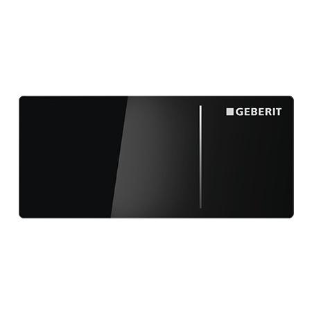 Geberit Sigma70 Przycisk spłukujący do WC typ 70 zdalny, szkło czarne 115.635.SJ.1