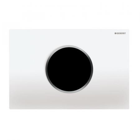 Geberit Sigma10 Elektroniczny przycisk spłukujący z zasilaniem sieciowym biały/chrom błyszczący 115.907.KJ.1
