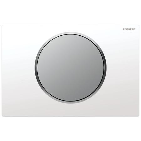 Geberit Sigma10 Przycisk spłukujący do WC UP320, biały/chrom mat 115.758.KL.5