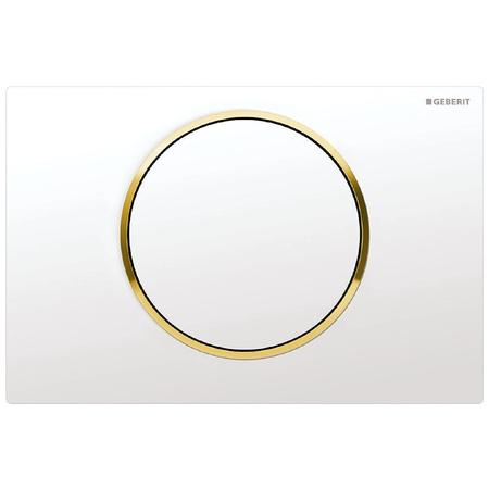 Geberit Sigma10 Przycisk spłukujący do WC UP320, biały/złoty 115.758.KK.5