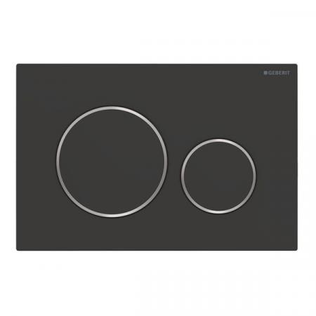 Geberit Sigma20 Przycisk spłukujący czarny mat/chrom połysk 115.882.14.1