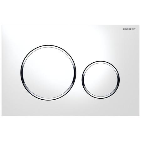 Geberit Sigma20 Przycisk spłukujący do WC UP320, biały/chrom błyszczący 115.882.KJ.1