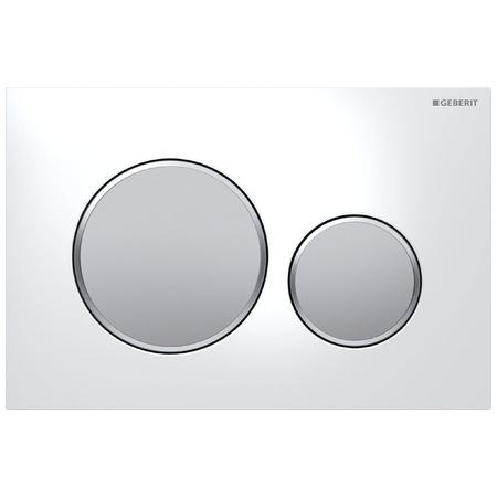 Geberit Sigma20 Przycisk spłukujący do WC UP320, biały/chrom mat 115.882.KL.1