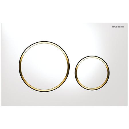 Geberit Sigma20 Przycisk spłukujący do WC UP320, biały/złoty 115.882.KK.1