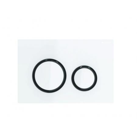 Geberit Sigma21 Przycisk spłukujący biały/czarny chrom 115.651.SI.1