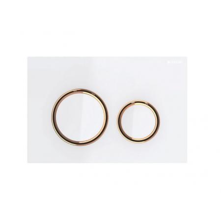 Geberit Sigma21 Przycisk spłukujący biały/czerwone złoto 115.650.SI.1