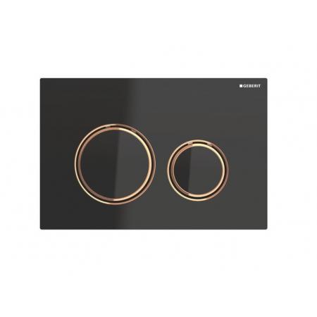 Geberit Sigma21 Przycisk spłukujący czarny/czerwone złoto 115.650.SJ.1